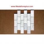 Carrera Marble Brick Polished Mosaic Tiles